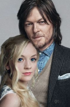 Norman Reedus Emily Kinney Daryl and Beth #gc The Walking Dead Bethyl