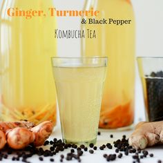 Ginger, Turmeric and Black Pepper Kombucha Tea