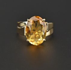 Heavy Bypass Vintage Gold Citrine Ring  #Deco #Gold #Citrine #Art #intage #Vintage #Ring #French #Forget #Jadeite
