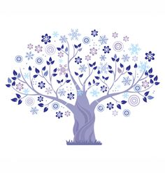 Winter tree vector 268911 - by vectorinka on VectorStock®