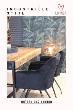 Metal Furniture, Industrial Furniture, Industrial Style, Dinning Room Tables, Dining Chairs, Amsterdam Houses, Apartment Interior, Interior Design Inspiration, Trends