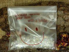 50 x Beutel  Plastikbeutel Smile 14 x 14cm von SackundPack auf Etsy, €4.90