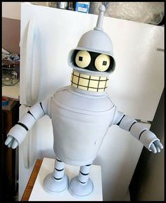 "#Futurama's #Bender cake: ""Bite my sweet sugar-coated ass!"" by Kakes by Klassic"