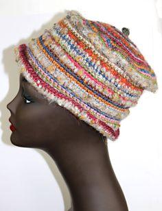 HANDMADE CROCHET HAT,  MULTI FIBER grunge style/street fashion- HAT6004 #Handmade #Ski #Casual