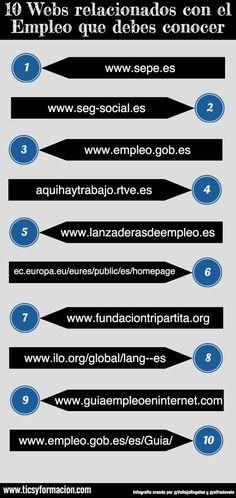 10 Webs relacionados con el Empleo que debes conocer #infografia