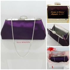 Blackberry Purple and Silver Embroidered Bridesmaid by EllaWinston, $64.00