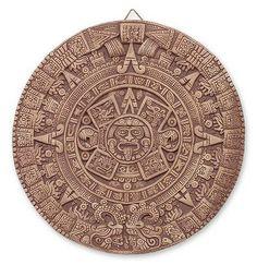 Ceramic plaque, 'Aztec Sunstone' by NOVICA