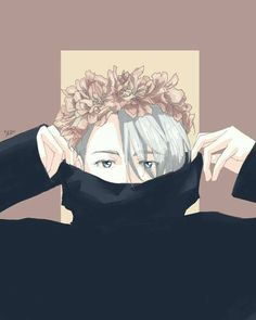Credit to artist. So incredibly beautiful! Gorgeous Vitya ♡♡