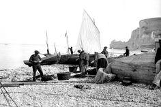 Fischer in Étretat in der Normandie:  Die malerische Kulisse faszinierte - und...