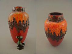 Vintage Vase / Scheurich / 549 21 / Fat Lava | West Germany | WGP | 60er von ShabbRockRepublic auf Etsy