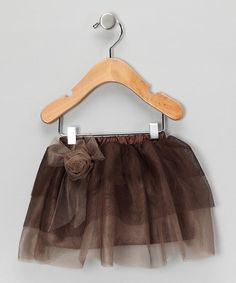 Take a look at this Light Brown Flower Tutu Skirt - Infant & Toddler by Tutu AND Lulu on #zulily today!