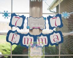 Custom Birthday Banners, Event Banner, Party Stores, Whimsical, Art Pieces, Trending Outfits, Handmade Gifts, Crafts, Design