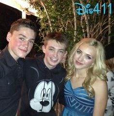 Dylan Riley Snyder With Spencer And Peyton List April 6, 2013