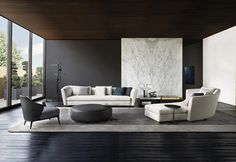 High end contemporary furniture from Italy. Casa Italia offers the finest in Modern Living with lines such as Minotti, Cattelan Italia, Varaschin & more. Sofa Design, Flur Design, Hall Design, Deco Design, Furniture Design, Modern Furniture, Minotti Furniture, Living Room Modern, Living Room Interior