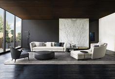Minotti, design per la casa - composizione angolare per la serie di sedute Powell