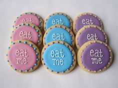 """Think I'm going to try these myself :)    Alice In Wonderland """"Eat Me"""" Dots by sugarandflour, via Flickr"""