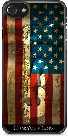 #GrabYourDesign - #Case for #Iphone 7/7S #USA / #Grunged #Flag... - by #pASob http://www.grabyourdesign.com/product.php?product=18002