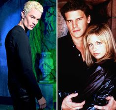 Angel, Buffy and Spike, Buffy the Vampire Slayer Best Tv Couples, Movie Couples, Buffy The Vampire Slayer, Spike Buffy, Fangirl Book, Kickin It Old School, Smallville, Favorite Tv Shows, Celebrity News