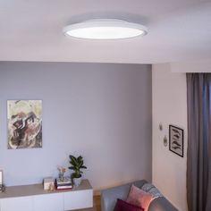 Design Plat, Flat Design, Ceiling Panels, Led Ceiling, Panel Led, Philips Hue, Home Gadgets, White Paneling, Kit Homes