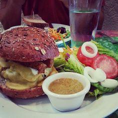 @Good Karma Cafe in #redbank #veggie #burger #bacon #tempeh #vegan #delicious #organic #nutrition #integrative #integrativewellnessgroup