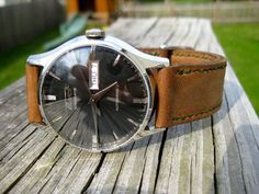 Tissot visodate heritage. BlackDial + Brownstrap = perfect