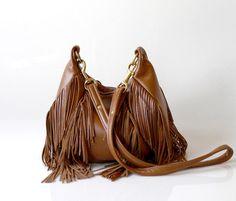 Fringe Leather Bag  OPELLE Nautilus Bag  Soft by opellecreative, $298.00