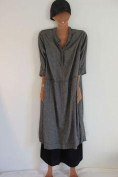 Gray wool dress CASEY