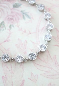 Sparkling Cubic Zirconia Bracelet, gifts for her, sparkly bracelet, silver Bridesmaid bracelet, wedding jewelry, crystal