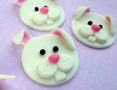 12 BUNNIES. Edible Cupcake Toppers by SWEETandEDIBLE on Etsy