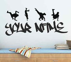 Wall Art Sticker Decal Graphic Personalised Graffiti Street Dance Hip Hop TR10 | eBay