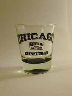 Chicago Illinois Black Original Quality Brand Shot Glass Souvenir Collectible
