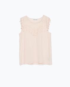 Image 6 of FRINGED TOP from Zara