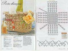 Christmas Crochet Patterns Part 8 - Beautiful Crochet Patterns and Knitting Patterns Crochet Case, Crochet Bowl, Crochet Clutch, Crochet Diagram, Crochet Purses, Diy Crochet, Crochet Stitches, Crochet Basket Tutorial, Pineapple Crochet