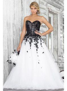 Wholesale 2013 Plus Size Dresses Black White Lace Sweetheart Strapless A-Line Wedding Dresses BL 5139