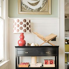 Have an heirloom piece that feels tired? Paint it black. Its lines will appear more distinct and modern.