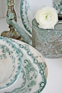 ~ pretty green transferware