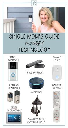 Smart Home Products that Help Your Life - Single Mom Living - Ideas of Single Mom Living - A Single Mom's Guide to Technology that makes life safer and easier! Security Tips, Home Security Systems, Security Camera, Smart Kitchen, Single Mom Help, Single Moms, Smart Home Ideas, Home Buying Tips, Smart Home Technology