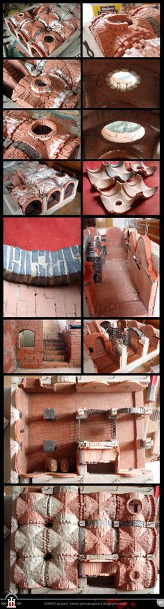 Domus project 35 - Finishing touches on vaults and walls http://pietrasupietra.blogspot.com/2012/11/construction-35-finishing-touches-on.html The Domus project is the construction in scale 1:50 of an imaginary medieval palace. It's made of clay, stones, slate, wood and other construction materials in the style of rich genoese buildings from the middle of XIV century.