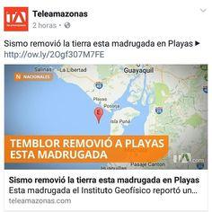 Esta madrugada el Instituto Geofísico reportó un movimiento sísmico en la localidad de Playas Provincia del Guayas.  A las 4:11 de la mañana la tierra se movió con una magnitud de 45. El temblor tuvo lugar a 10 kilómetros de profundidad.  Los usuarios de las redes sociales reportaron que el sismo se sintió en otros sectores de Guayas como Posorja Durán y Guayaquil.  Ante la serie de movimientos las autoridades recomiendan mantener la calma y estar pendiente de los anuncios que se hagan desde…