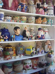 I am a tad envious of this collection. I want a Spock cookie jar!