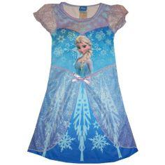 Omg i wish they had makennas size!! Disney Frozen Snow Queen Elsa Toddler Girls Nightgown Clothing