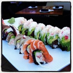 No-rice sushi rolls - looks yummy and healthy! #SuzanneKensington #sushi