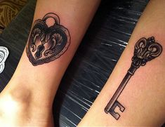 Locks of Love Matching Tattoos - 70+ Lovely Matching Tattoos  <3 <3