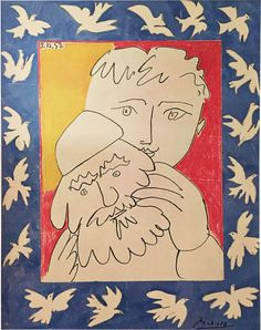 "El equipo de #GrabadosyLitografias.com os desea a tod@s un #FelizAño 2018!!  ""New Year"" (1965) Pablo Picasso Lithograph"