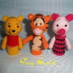 Patrones Amigurumi: Títeres de dedo Winnie The Pooh (Free Patterns in Spanish)