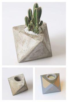 Passo a passo na nossa segunda edição da Revista Ideias Diferentes Diy Cement Planters, Concrete Crafts, Concrete Projects, Concrete Planters, Cement Design, Pastel Designs, Beton Diy, Ideias Diy, Artisanal