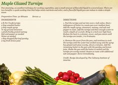 Maple Glazed Turnips at http://www.miedemaproduce.com/