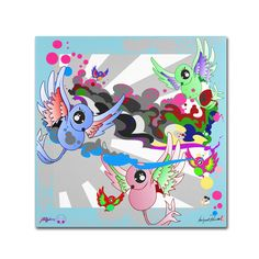 New Birds with Florals by Miguel Paredes Graphic Art on Wrapped Canvas
