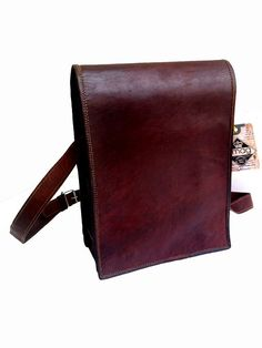 de039fc140 Genuine Men s Auth Real Leather Vintage Verticle Messenger Satchel Mens  Ipad Bag