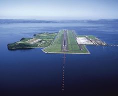 Airport on the sea